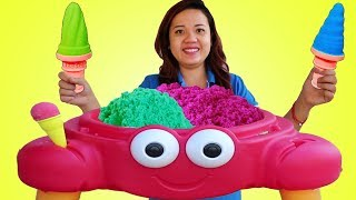 Color Kinetic Sand Ice Cream Crab Funny Pretend Play Toy Store