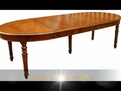 Tavolo tavoli ovali rotondi quadrati rettangolari apribili for Tavoli classici allungabili