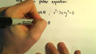 Converting Between Polar and Rectangular Equations, Ex 2