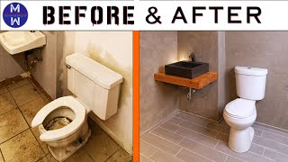 TRAIN-WRECK BATHROOM MAKEOVER // Ep. 01 Abandoned Bldg Renovation