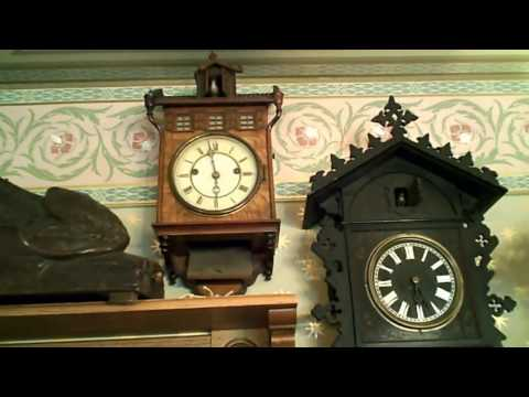 Antique Black Forest clock collection