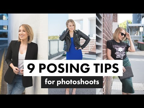 POSING TIPS FOR MEN + WOMEN | How to Pose for Photos WITHOUT Looking Awkward
