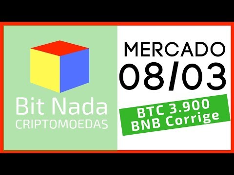 Mercado de Cripto! 08/03 BITCOIN / BNB / MOEDA DO TELEGRAM!