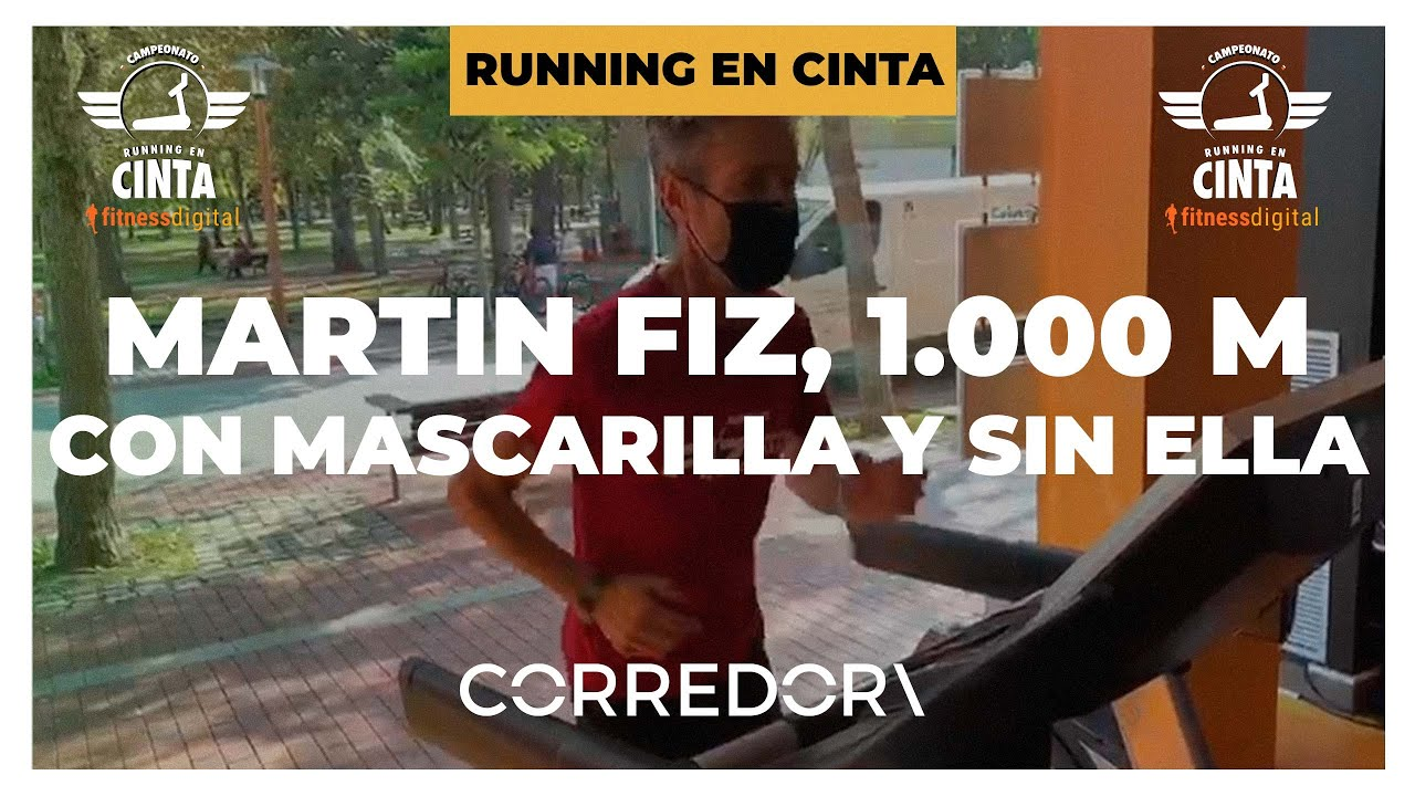 Martín Fiz, corriendo un 1.000 con mascarilla y sin ella, en el desafío de fitnessdigital | CORREDOR