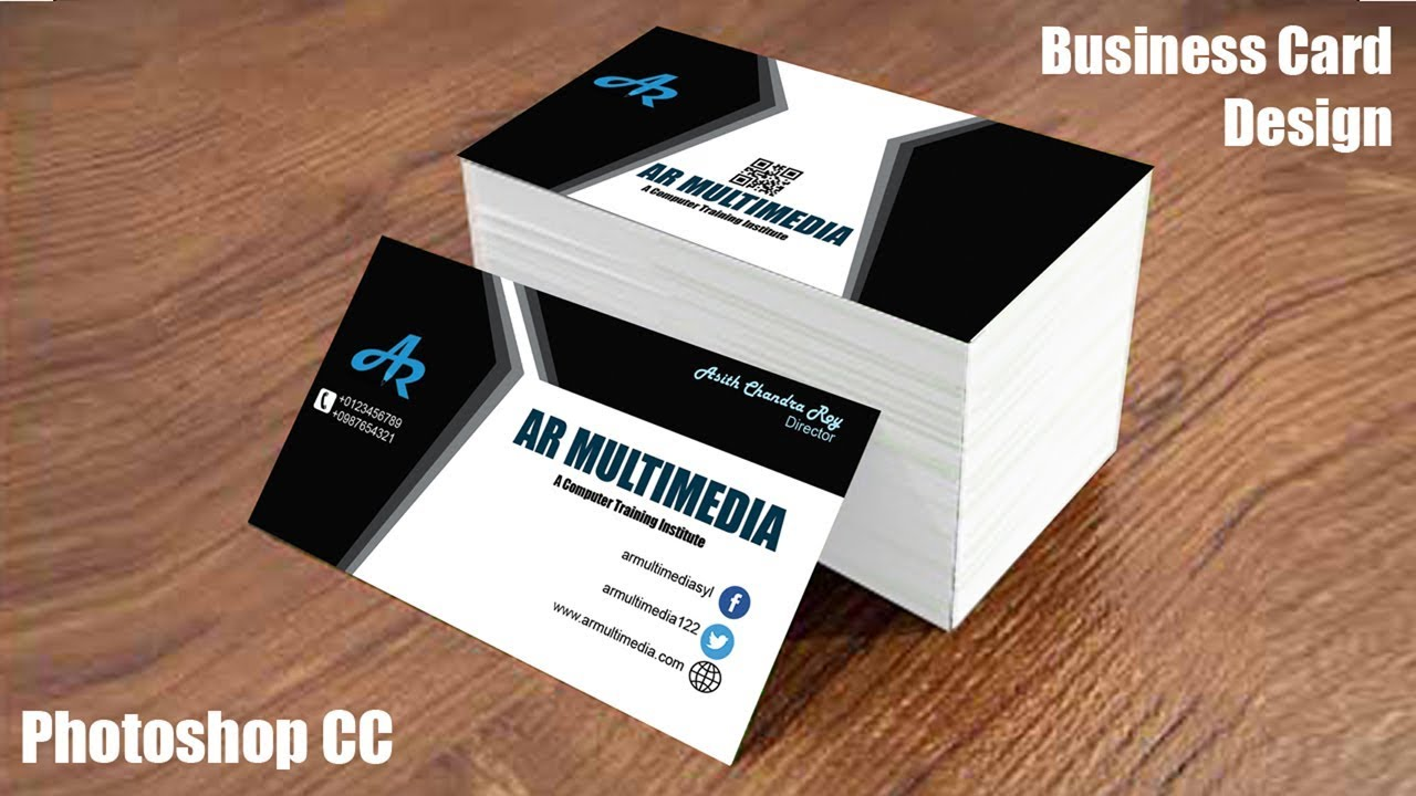How to Design Business Card in Adobe Photoshop cc|Graphic design ...