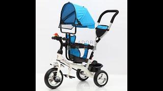 유아 버기트라이크 세발자전거 아동유모차 햇빛가리개YY …