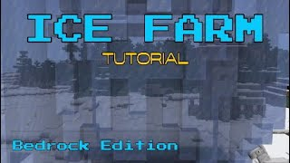 Minecraft Tutorial: Ice Farm (Bedrock Edition)