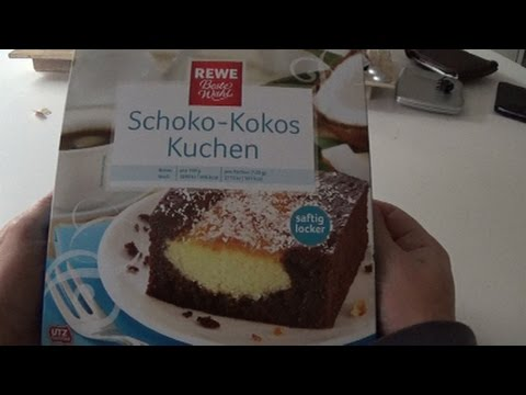 Schoko kokos kuchen rewe unboxing und test youtube for Youtube kuchen