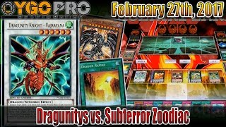dragunitys vs subterror zoodiac ygopro duels comboing while tired not recommended for anyone