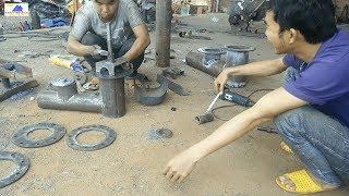 Chế tạo bơm tự áp - bơm nước không cần điện -  hydraulic pump manufacture. 0974888648