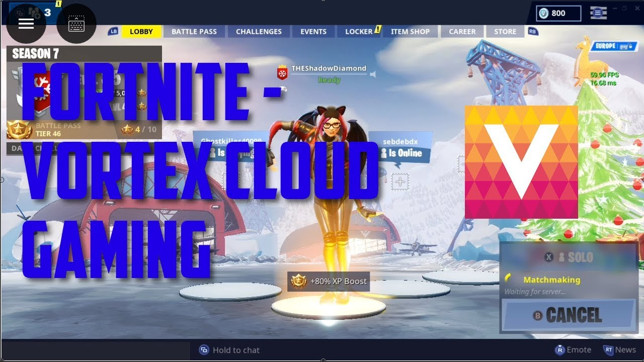 Fortnite Battle Royale | Vortex Cloud Gaming Test
