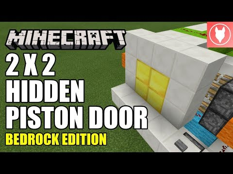 Minecraft Bedrock - 2x2 Hidden Piston Door (Jeb Door) Tutorial (Xbox / MCPE / Windows 10 / Switch)