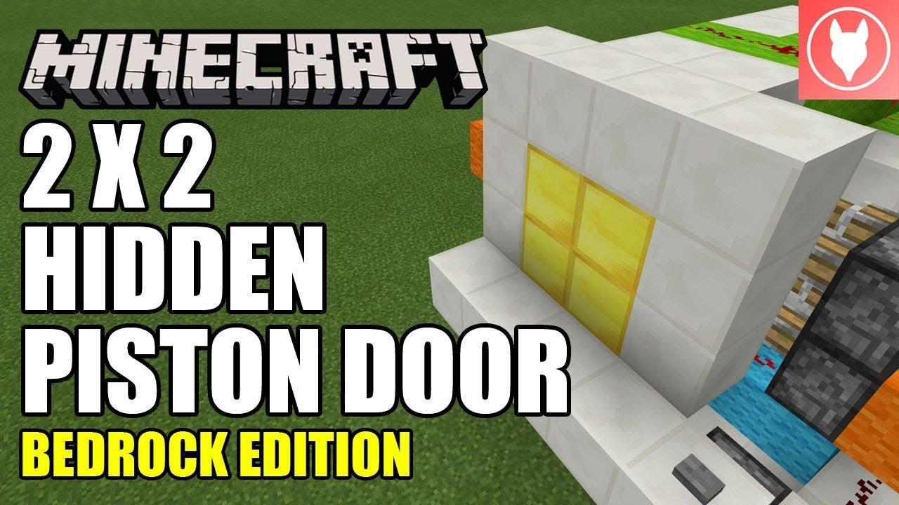 Minecraft Bedrock 2x2 Hidden Piston Door Jeb Door Tutorial Xbox Mcpe Windows 10 Switch Youtube