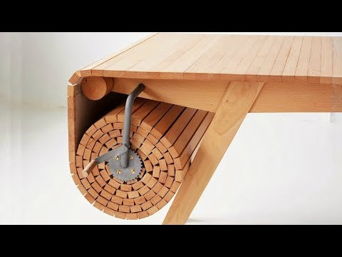 UNIQUE Folding System FURNITURE And TABLES ▶ Can Space Saveing in Your Room