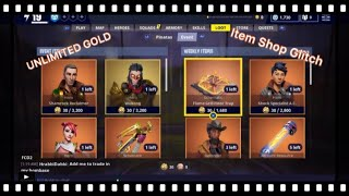 Fortnite Save The World Glitch *Duplication Glitch Unlimited Gold*