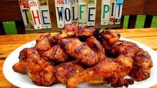 Grilled BEER WINGS!! - BEST EVER Chicken Wing Recipe - The Wolfe Pit