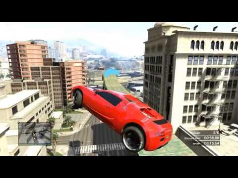 GTA5 racing video / ГТА5 гонки на машинах