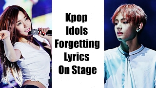 Video Kpop Idols Forgetting Lyrics On Stage download MP3, 3GP, MP4, WEBM, AVI, FLV September 2017