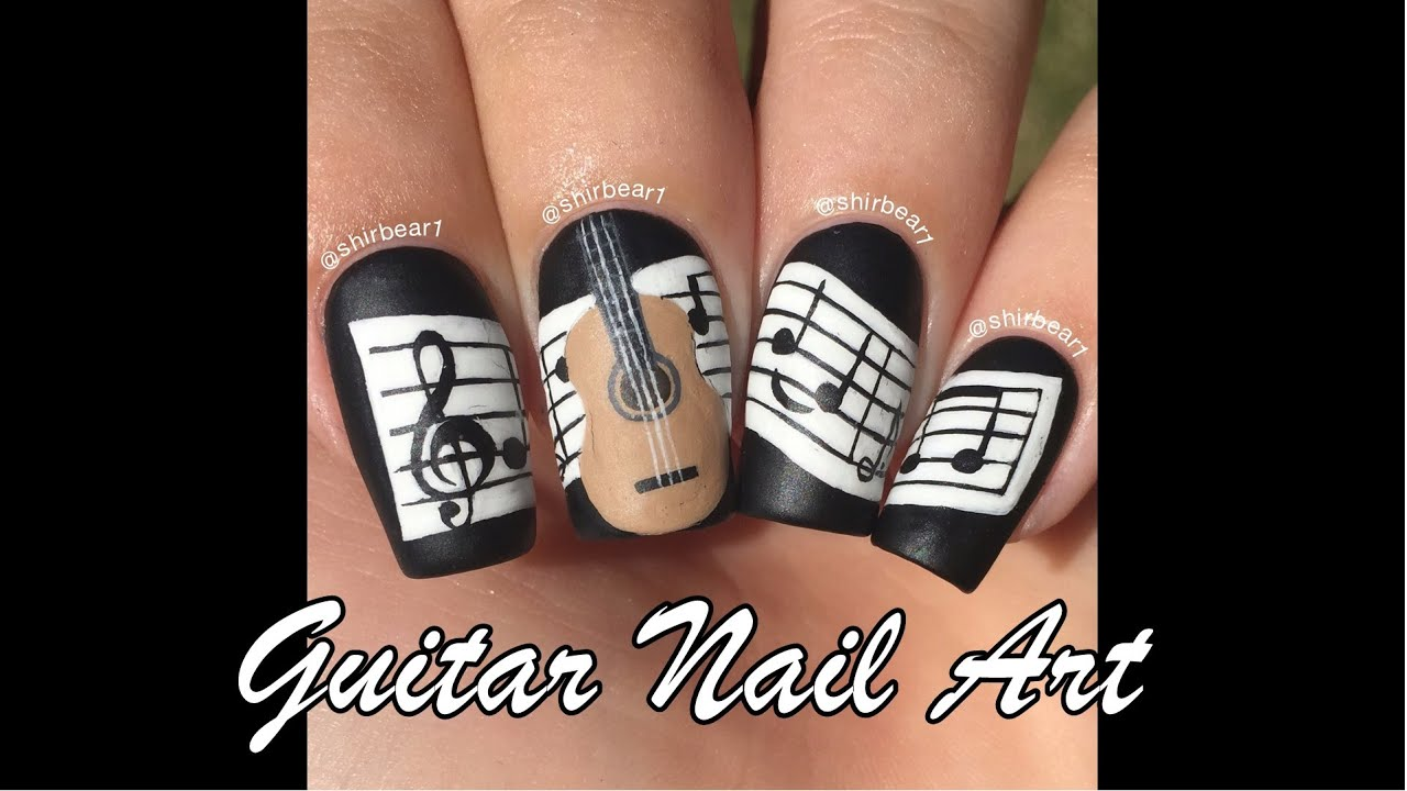 Guitar Nail Art Tutorial
