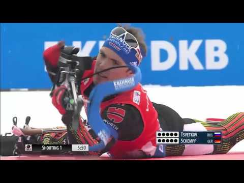 Shipulin vs schempp ! biathlon world cup 2016 (stage 6) - men's 12,5km pursuit race