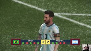 Brazil vs Argentina Penalty Shootout | PES 2019