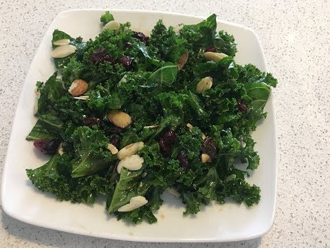 Kale salad with a Balsamic Honey vinaigrette