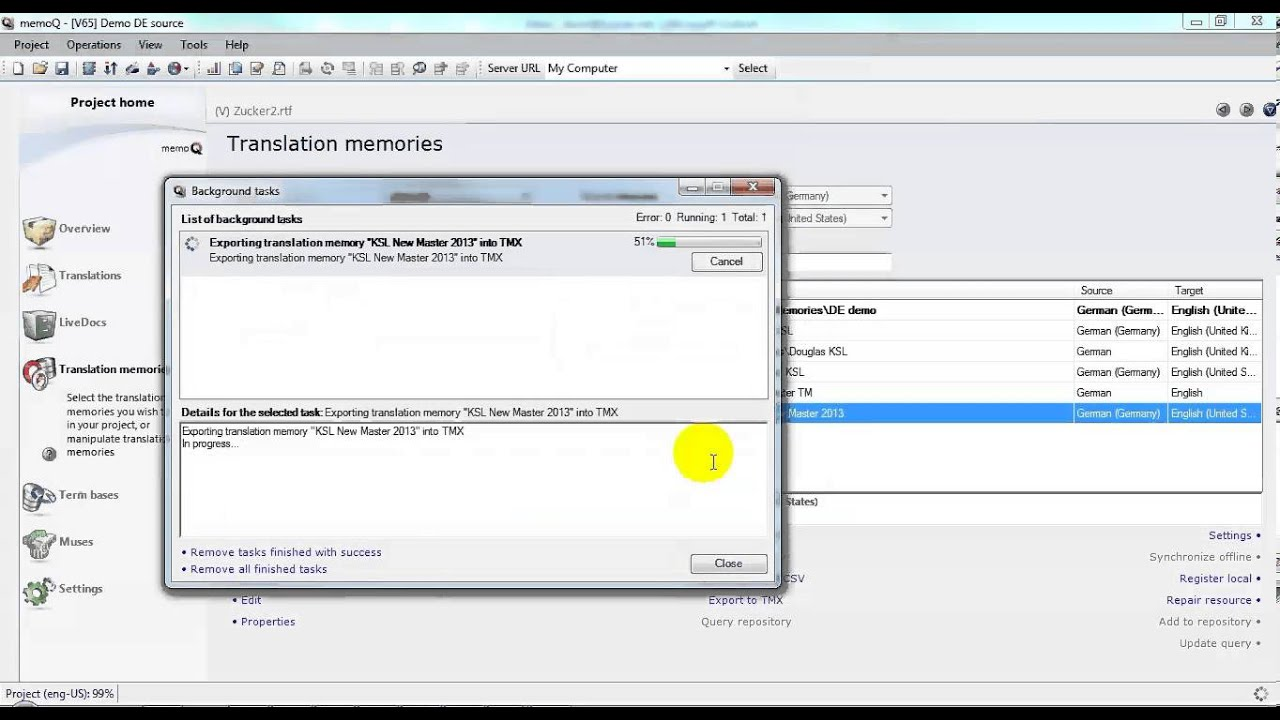 Translation Tribulations: memoQuickie: Exporting TMX from memoQ
