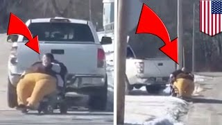 Fat-shaming video: Kansas pastor films obese woman in wheelchair towed by pickup truck - TomoNews