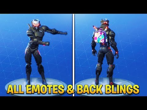 "Fortnite MAX ""OMEGA"" Showcase! All Back Blings & Emotes! (Fortnite Season 4 Omega Full Armor)"
