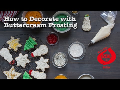Decorate Cookies With Buttercream Frosting
