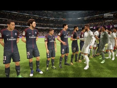 [PC] Paris Saint-Germain vs Real Madrid - Gameplay Demo FIFA 18 Legend