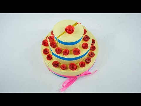 Paper Cake - Paper Cake For Explosion Box | Birthday cake | Paper Cake For Birthday - DIY