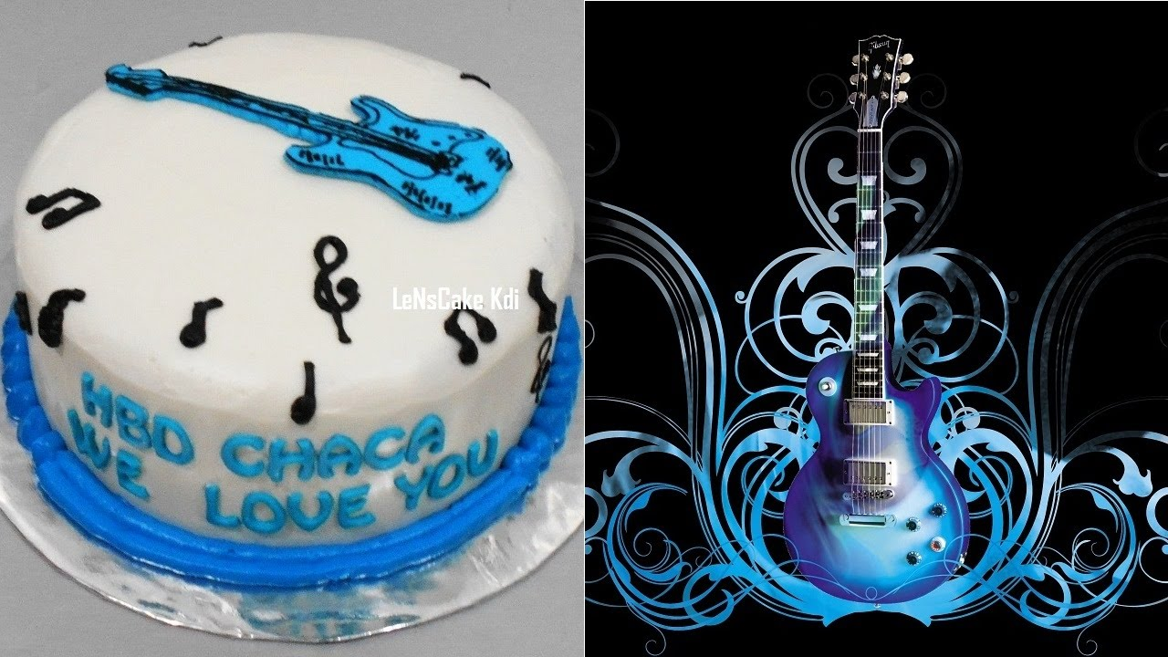 Guitar Cake Decorating Simple YouTube