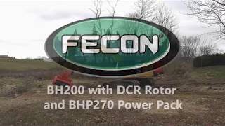Fecon BH200 Bull Hog Forestry Mulcher with DCR Rotor and BHP270 Power Pack.