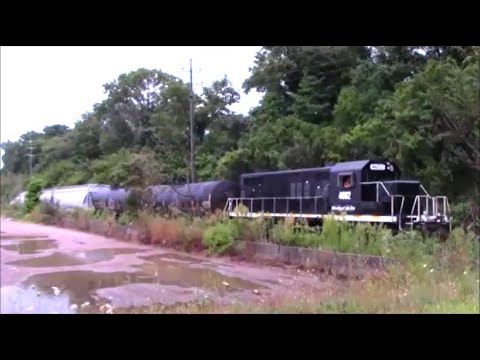 SLOW TRAIN Enters Akron, Ohio Train Yard