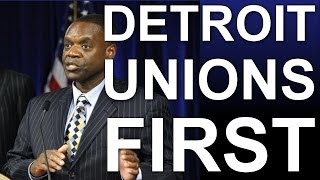 Detroit Unions Jump to Front of the Line in Bankruptcy Agreement