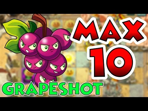 Plants vs Zombies 2 Max Level UP - Grapeshot Max Level 10 EPIC Power UP