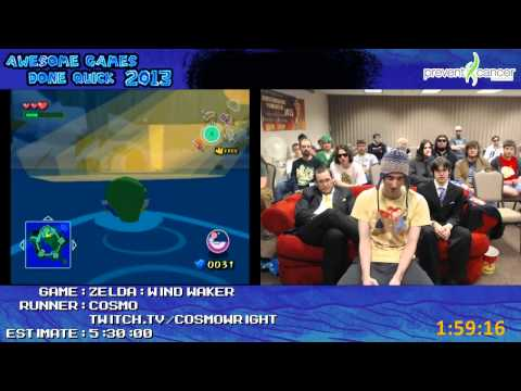 Legend of Zelda: The Wind Waker SPEED RUN by cosmo in 4:44:40 (Awesome Games Done Quick 2013)