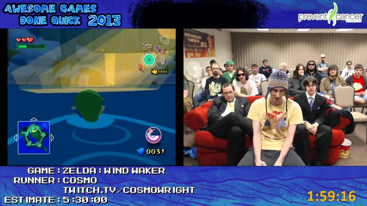 Legend Of Zelda The Wind Waker Speed Run By Cosmo In 4 44