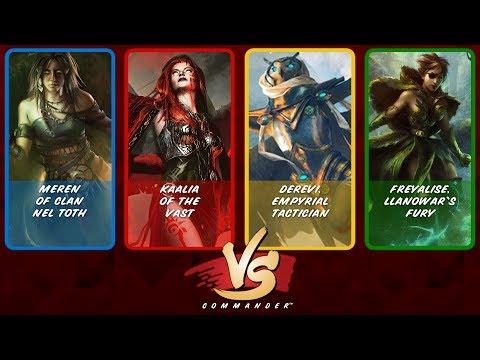 Commander VS: Meren vs Kaalia vs Derevi vs Freyalise [Commander Anthology]