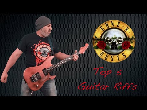 Guns N' Roses Top 5 (Guitar Riffs)
