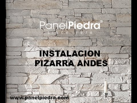 Como montar paneles decorativos de panel piedra youtube for Precios de piedra decorativa para interiores