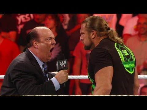 Paul Heyman accepts Triple H's SummerSlam challenge: Raw, July 23, 2012
