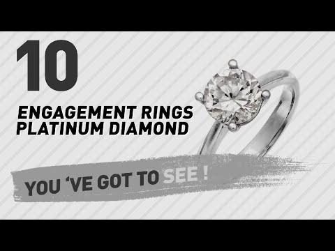 Engagement Rings Platinum Diamond Top 10 Collection // UK New & Popular 2017