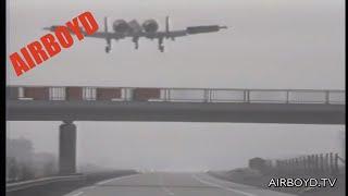 Planes Landing On Highway Airfield