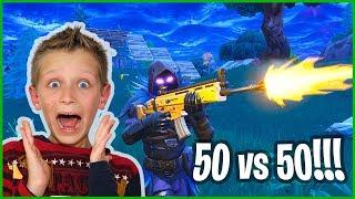 New 50 vs 50 Mode in Fortnite Battle Royale!