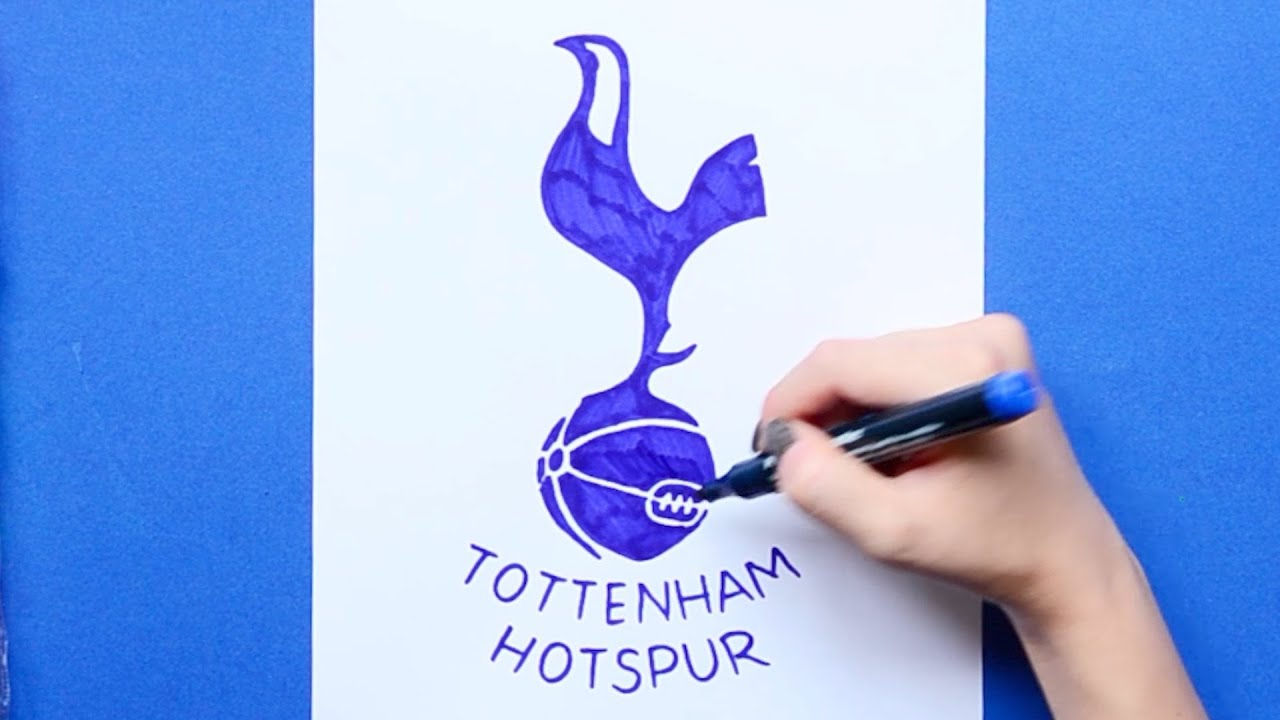 How To Draw Tottenham Hotspur F C Logo Premier League Youtube