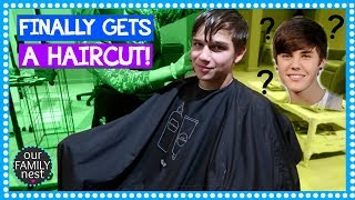 FINALLY GETS A HAIRCUT! DOES HE DITCH THE JUSTIN BIEBER LOOK?