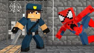 Minecraft : HOMEM ARANHA FOI PRESO !! - ( Polícia e Ladrão)