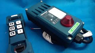 Remote Radio HM-Line 600 for 3 functions hydraulic valve 24 V video